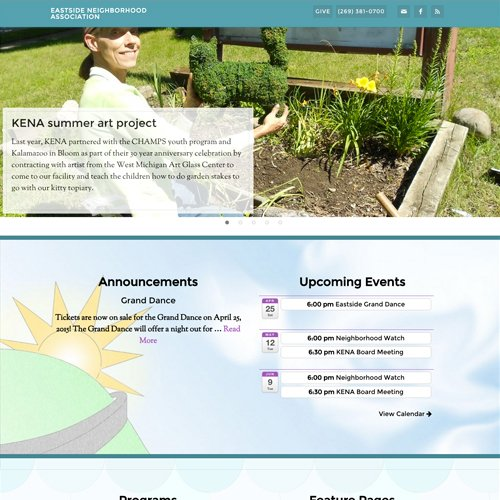 Kalamazoo Michigan Neighborhood Association Website Design