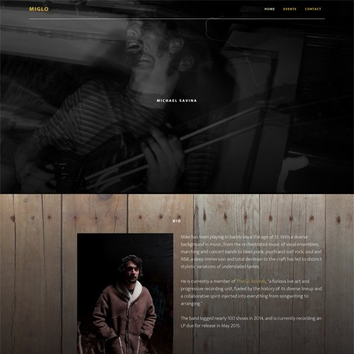 Kalamazoo Michigan Musician Website Design