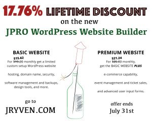 17.76% Off the New JPRO Web Builder in July