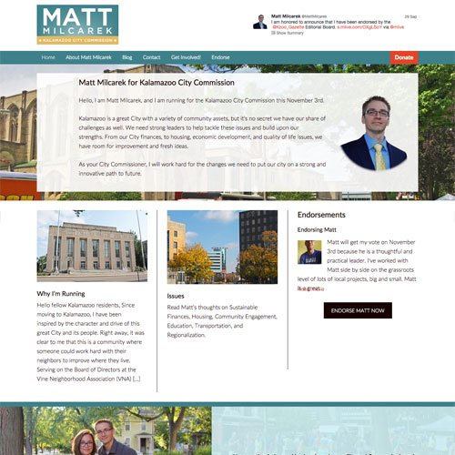 Kalamazoo Michigan Political Website Design