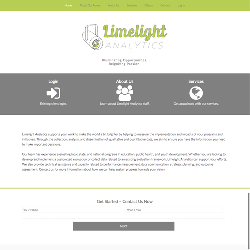 Bloomington Indiana Evaluation Company Website Design