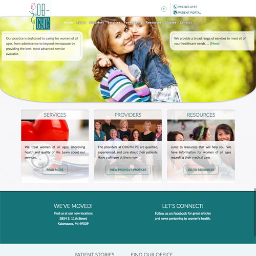 Kalamazoo Michigan Doctor Office Website Design