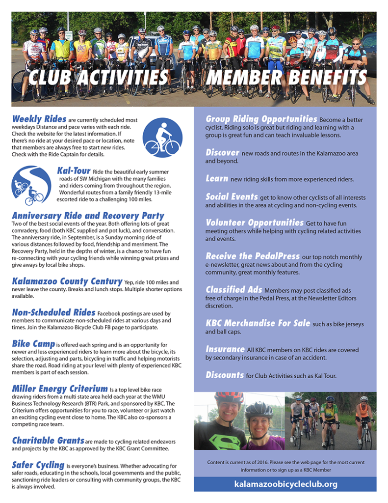 Kalamazoo Bicycle Club Brochure